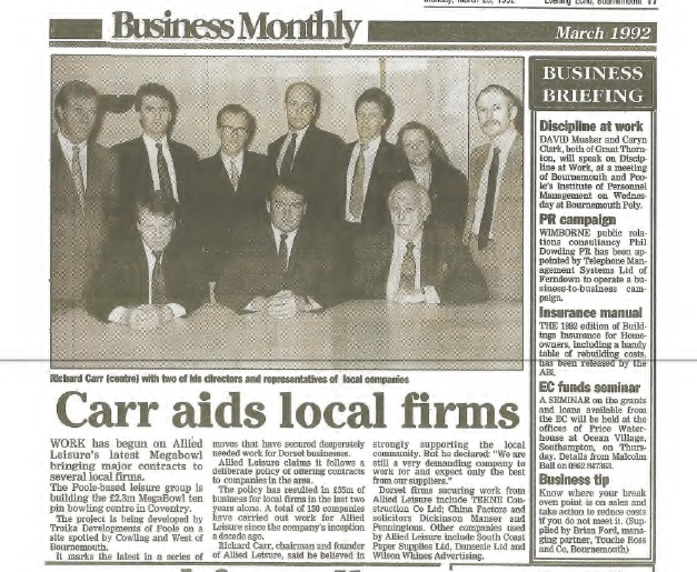 Richard Carr aids local firms