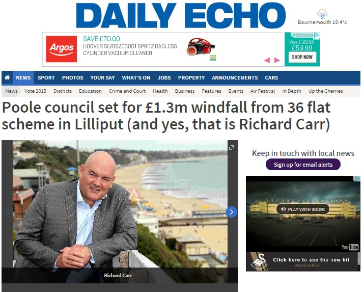 Richard Carr Fortitudo in Daily Echo